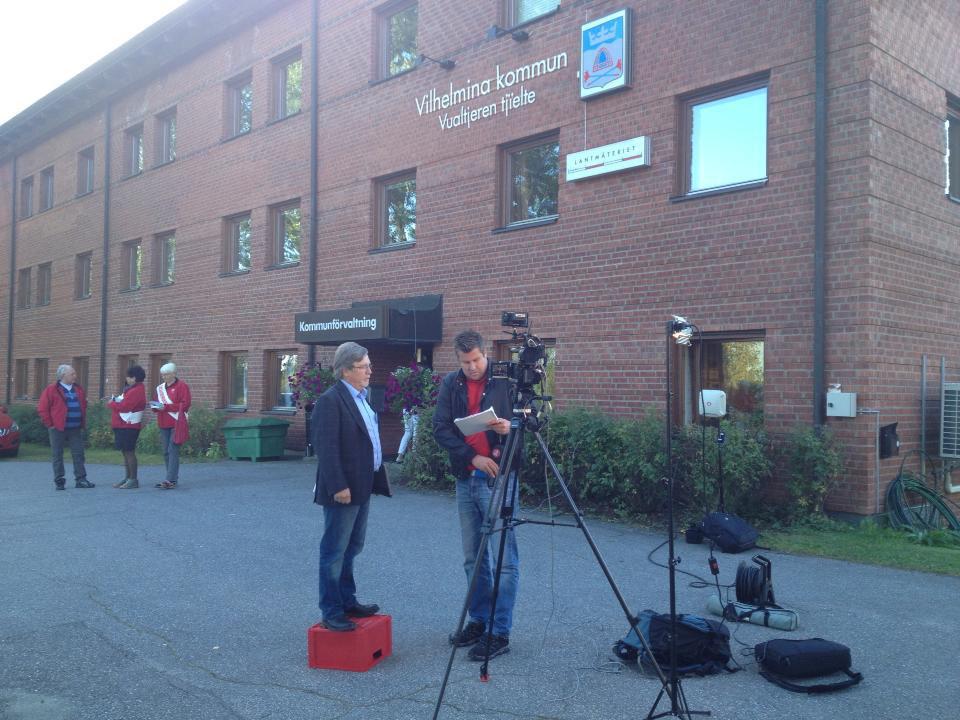"""Frilans för TV4 Nyheterna som fotograf/tekniker för """"Live"""" sändningar från olika orter i Jämtlands län."""