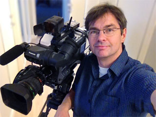Fredric Jämthag filmare i Östersund